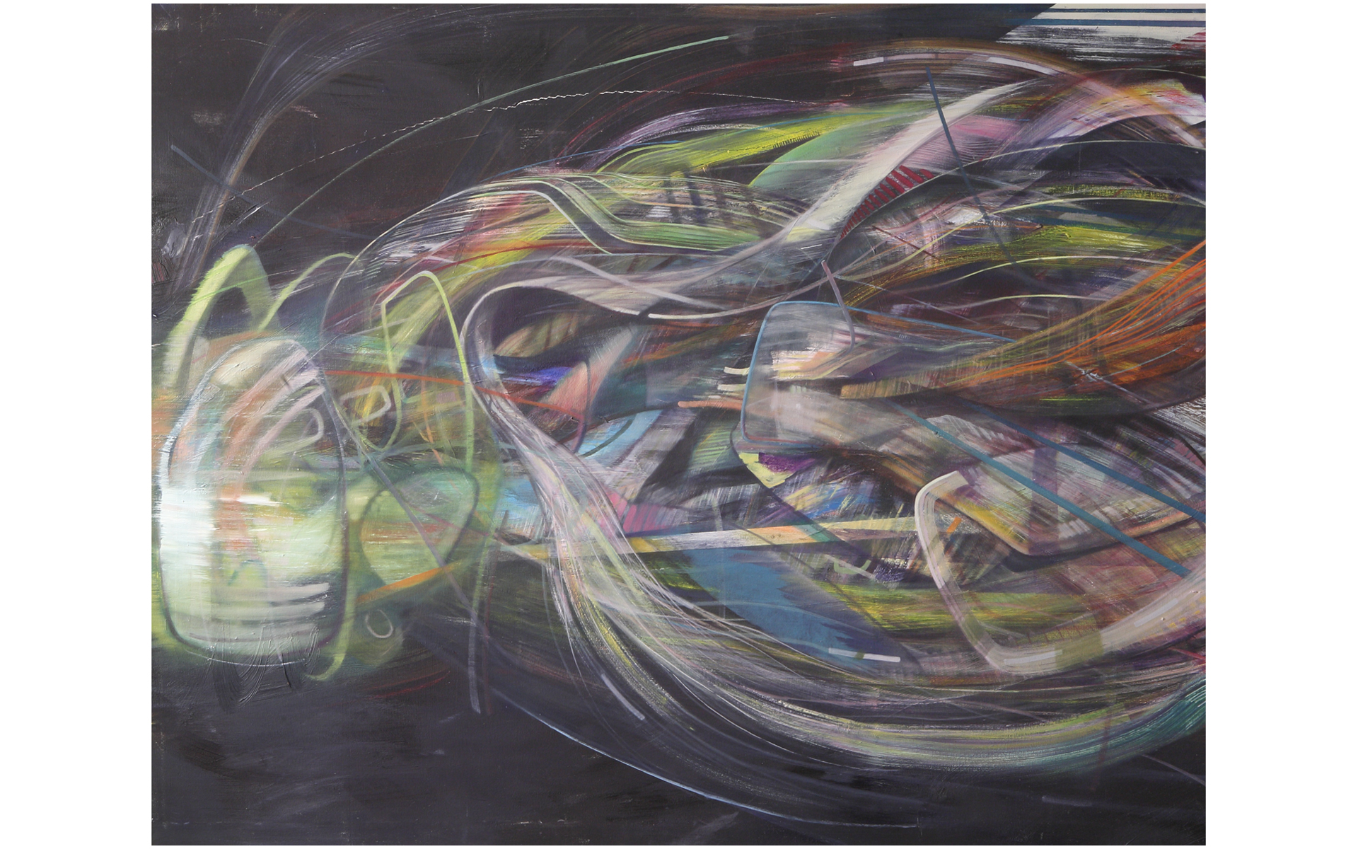 Sleeper, painting by Dipesh Parmar